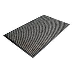 Šedá textilní čistící vnitřní vstupní rohož - 150 x 90 x 0,7 cm