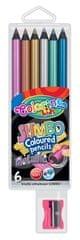 Pastelky kulaté Colorino JUMBO 6 barev metalické
