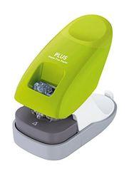 Sešívač bezsponkový PLUS 10 listů zelený