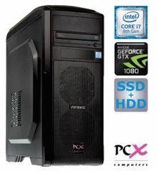 PCX računalnik Extiam G6871 i7-8700K/16GB/SSD256GB+2TB/ GTX1080/FreeDOS (138978)