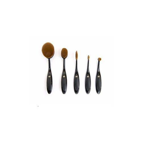 RIO Sada štětečků z mikrovlákna na make-up (Microfibre Brush Set) 5 ks