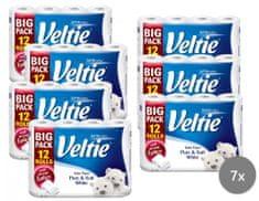 Veltie Delicately 3-vrstvý bílý, 7 x 12 rolí
