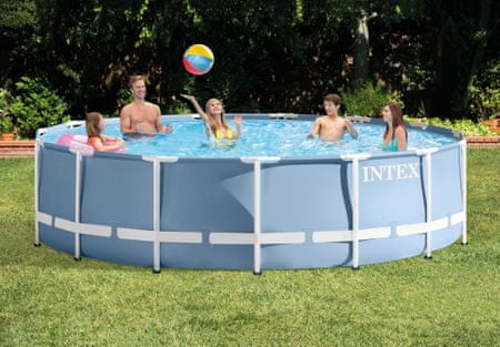 Intex bazen Prism Frame, 457 x 107 cm, s filter pumpom, ljestvama, podlogom, pokrivačem (26734NP)