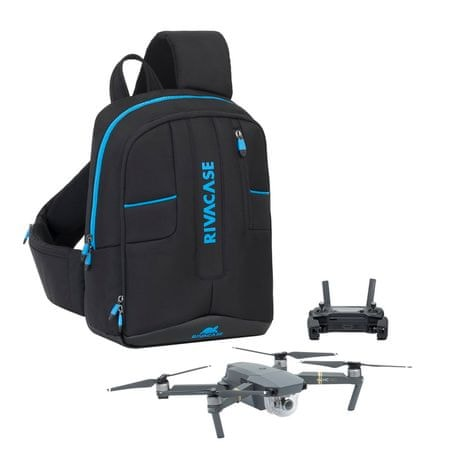 RivaCase ruksak za dron i prijenosno računalo 7870, 33 cm, crni