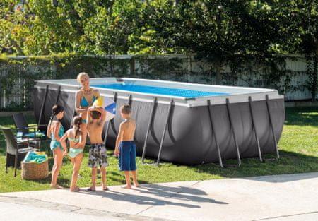 Intex bazen Ultra Frame, 549x274x132 cm, s pješčanom pumpom, ljestvama, podlogom, pokrivačem(26352NP)