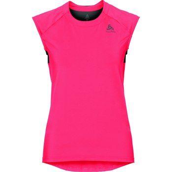 ODLO ženska majica BL TOP Crew neck Singlet Ceramicool, roza/črna, M