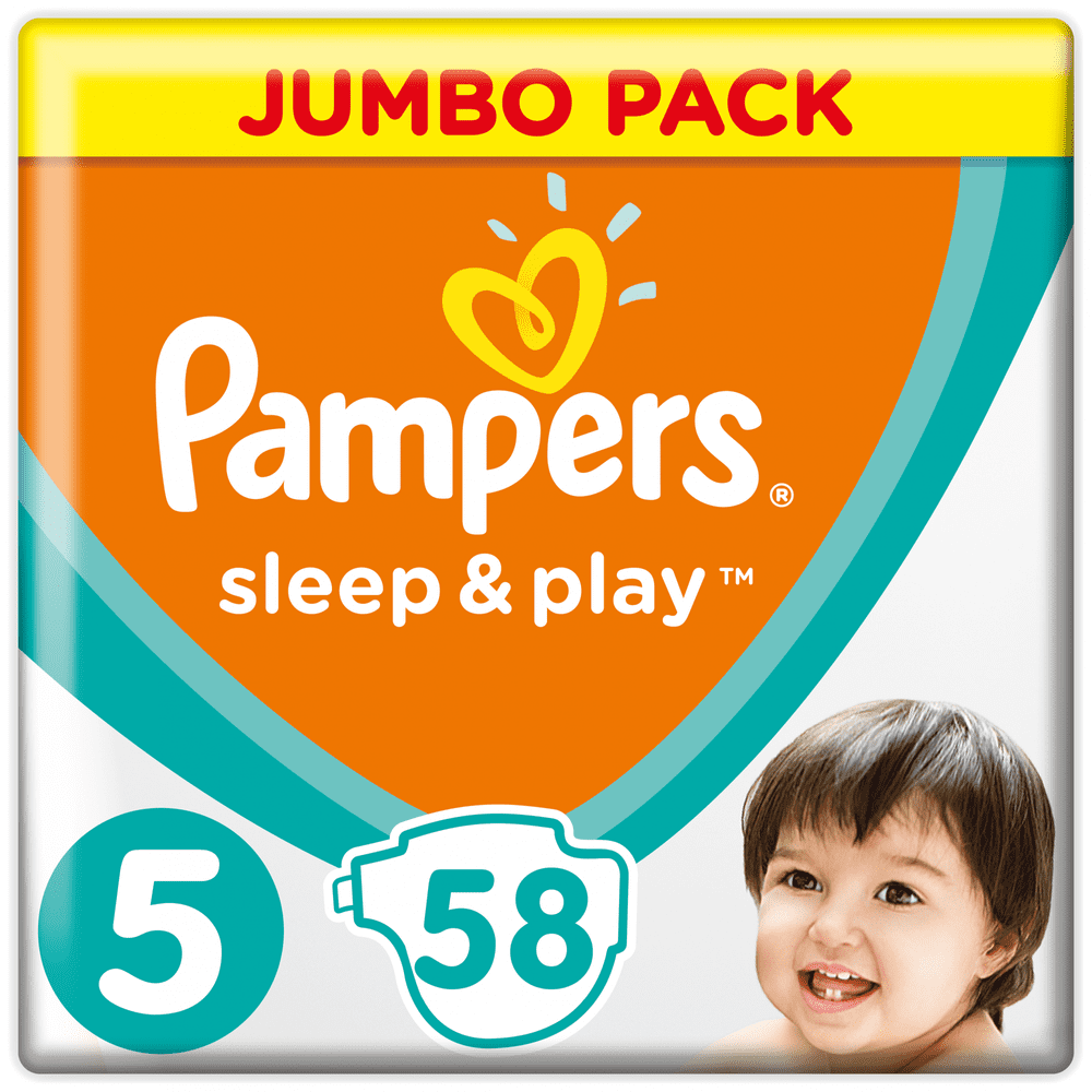 Pampers Sleep & Play 5 Jumbo Pack (11-16 kg) 58 ks