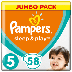 Pampers Pelenka Sleep & Play 5 Jumbo Pack (11-16 kg) 58 db