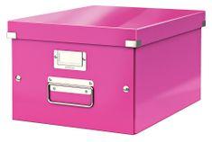 Krabice CLICK & STORE WOW střední archivační, růžová