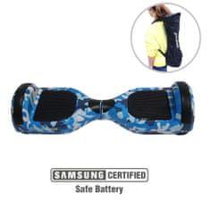 Xplorer skuter rolka Hoverboard City V2, 16,5 cm, kamuflažno modra