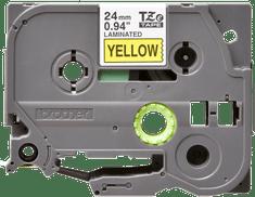 Brother trak TZE-651 za P-touch tiskalnike, 24 mm, rumen/črn