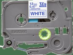 Brother trak TZE-233 za P-touch tiskalnike, 12 mm, bel/moder