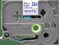 Brother trak TZE-253 za P-touch tiskalnike, 24 mm, bel/moder