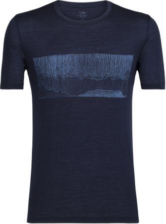 Icebreaker moška majica s kratkim rokavom Mens Tech Lite SS Crewe Hard Rain Midnight Navy, L, modra