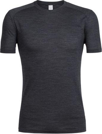 Icebreaker moška majica s kratkimi rokavi Mens Sphere SS Crewe Black HTHR, XL, črna