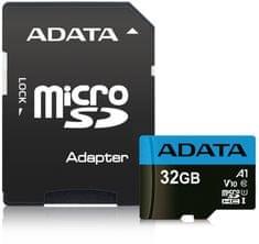 Adata MicroSDHC 32GB UHS-I 85/20MB/s + ad (AUSDH32GUICL10A1-RA1)
