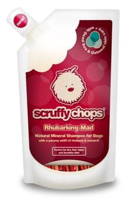 Scruffy Chops šampon za pse Rhubarking Mad, z vonjem rabarbare, 250 ml