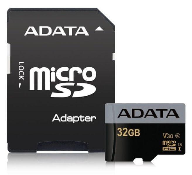 Adata Premier Pro microSDHC UHS-I U3 32GB + ad (AUSDH32GUI3V30G-RA1)
