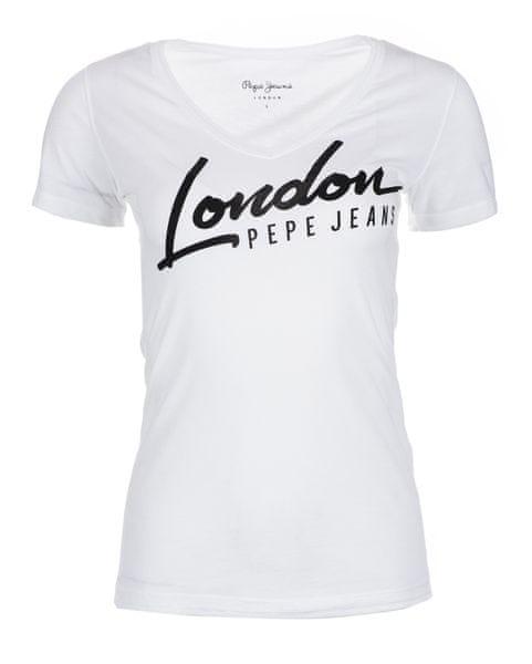 62c630a4954 Pepe Jeans dámské tričko Cassidy M bílá