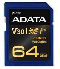Adata Premier Pro SDXC UHS-I U3 V30G (ASDX64GUI3V30G-R)
