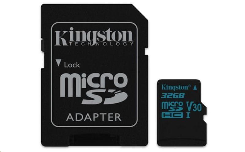 Kingston 32GB Canvas Go! micro SDHC UHS-I U3 + ad (SDCG2/32GB)