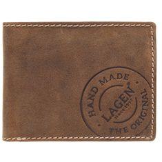 Lagen Pánská hnědá kožená peněženka Brown 5081/C