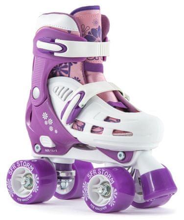 SFR Skates raztegljive otroške kotalke, vijolične, 25,5-29