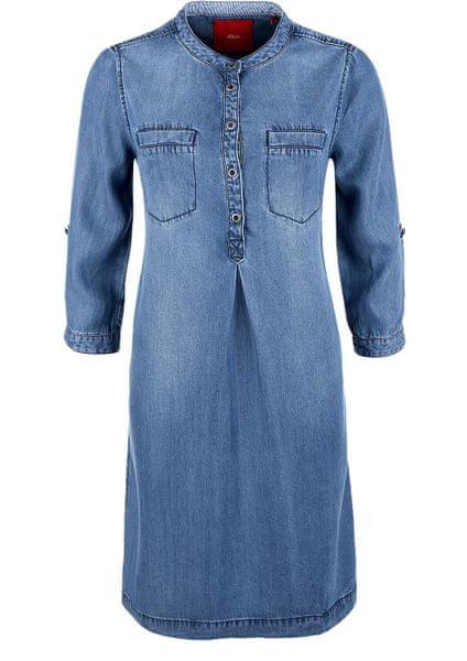 s.Oliver dámské šaty 36 modrá