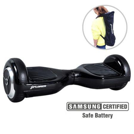 Xplorer skuter rolka Hoverboard City V3 ,16,51 cm, črna
