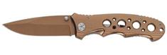 Ausonia zložljiv žepni nož, zlat (26557)