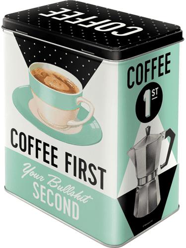 Postershop puszka L Coffee Firts