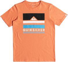 Quiksilver fantovska kratka majica SS Classic Tee Loud Places Youth, oranžna