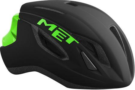 MET čelada Strale, L/XL (59-62 cm), črna/zelena