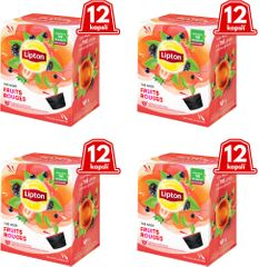 Lipton Černý aromatizovaný čaj Lesní ovoce 4x12 kapslí 33,6g