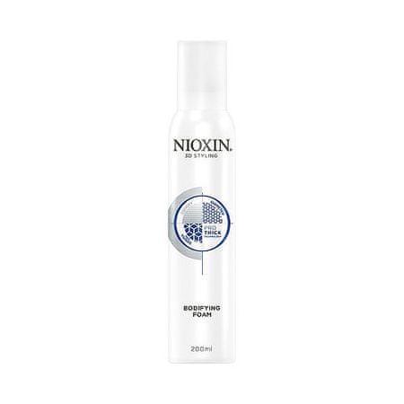 Nioxin Fixačná pena pre všetky typy vlasov 3D Styling (Bodifying Foam) 200 ml