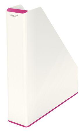 Leitz Stojan na časopisy dvoubarevný WOW růžový/bílý