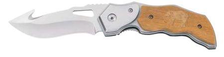 Ausonia zložljiv žepni nož, leseni ročaj (26573)