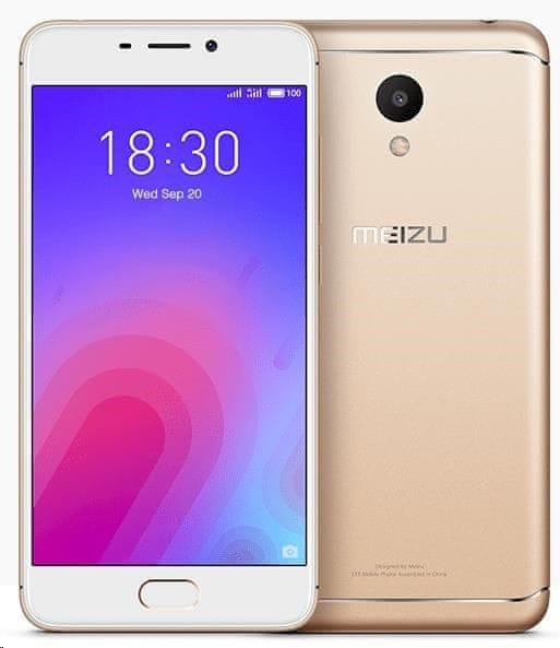 """Meizu M6, 3GB/32GB, 5,2"""" IPS, zlatá"""