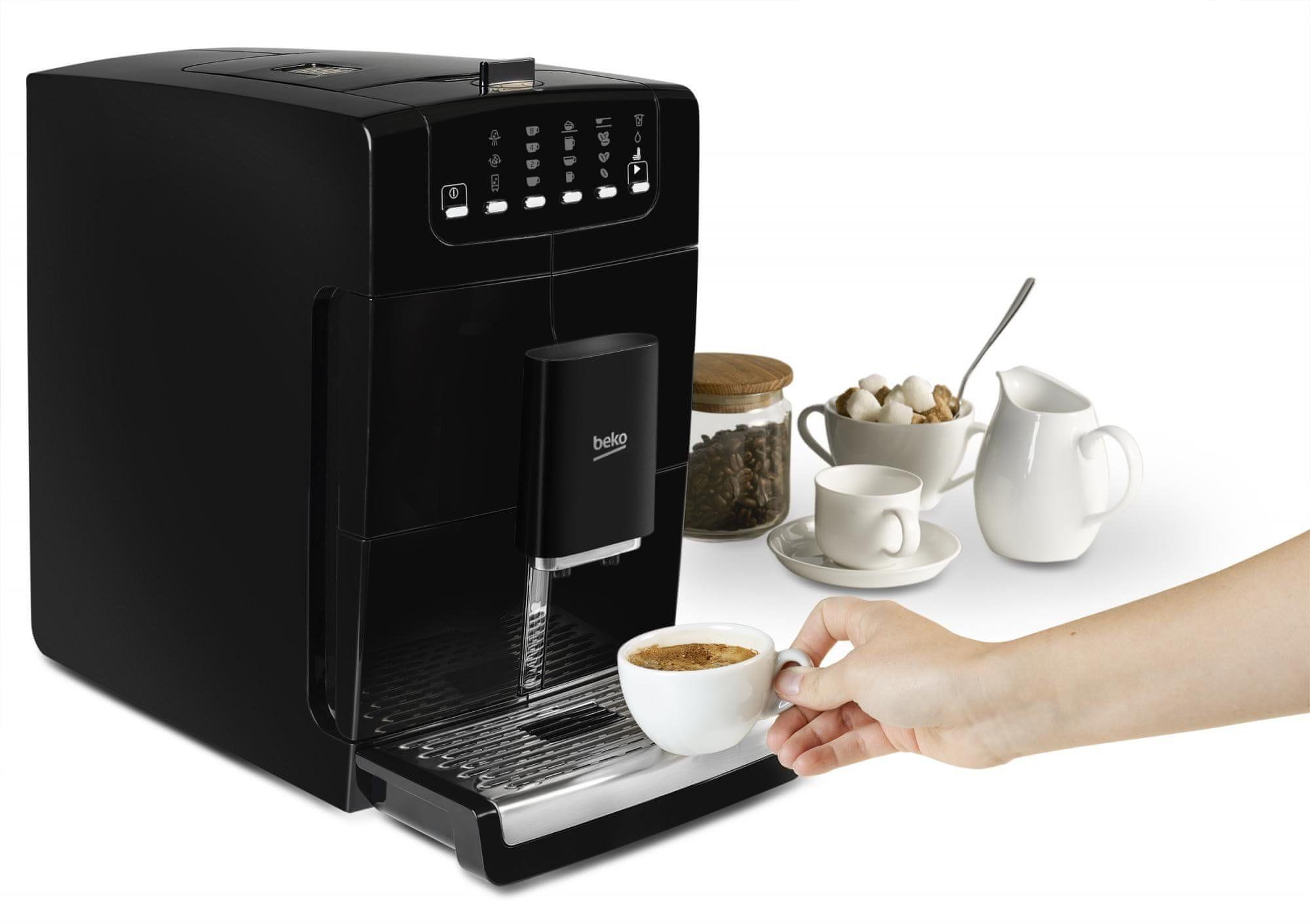 Beko CEG7425 nastavení objemu kávy