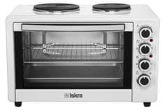 Iskra mini pečica s kuhalnima ploščama HL48RCT, bela
