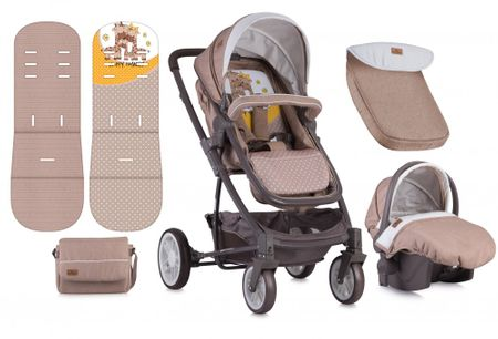 Lorelli S-500 SET multifunkciós babakocsi - Beige Yellow Happy ... 77a27c96c6