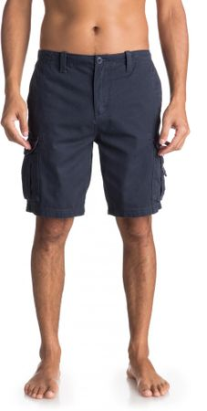 Quiksilver moške kratke hlače Crucialbattlesh M Wkst Bst0 Blue Nights, 33, temno modre