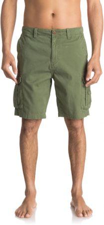 Quiksilver moške kratke hlače Crucialbattlesh M Wkst Gph0 Four Leaf Clover, 33, olivno zelene