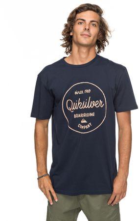 Quiksilver moška kratka majica Clmornslides M Tees Byj0 Navy Blazer, XXL, temno modra