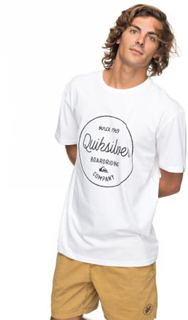 Quiksilver moška kratka majica Clmornslides M Tees Wbb0 White, S, bela