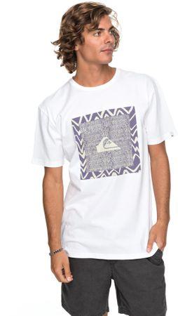 Quiksilver moška kratka majica Classicnanospan M Tees Wbb0 White, M, bela