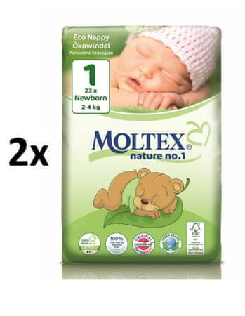 MOLTEX Newborn 2 - 2x (46 ks) 4kg