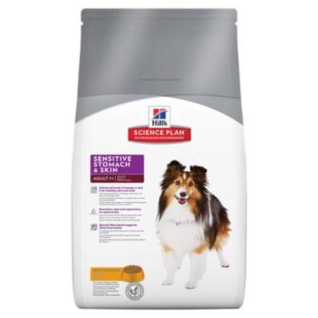 Hill's hrana za odrasle pse z občutljivo kožo, 12 kg