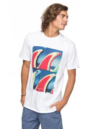 Quiksilver moška kratka majica Ssclafinfanatic M Tees Wbb0 White, bela, M