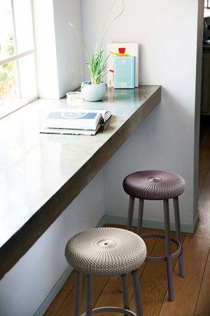 Rojaplast stol COZY BAR STOOL, vijolična